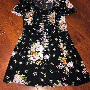 Wild fable black floral dress L